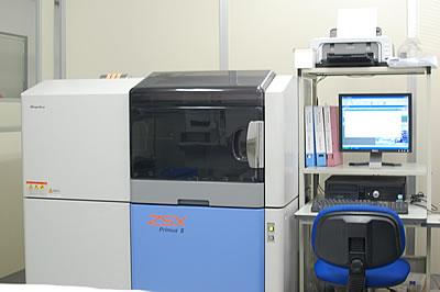 蛍光X線分析装置。粉体の様々な元素 定性分析、簡易定量分析が可能。