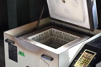 粉体の焼成加工 電気炉